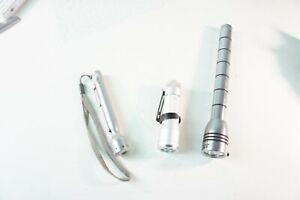 3 kleine LED Taschenlampen Amper Gigalite Lenser gecheckt  W-1955