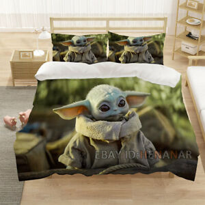 Baby Yoda 3D Bedding Sets Duvet Cover Pillowcase Sleepdown Twin Full Queen King