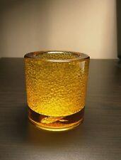 Hollowick 5140AJ Amber Jewel Thick Glass Tealight Lamp New