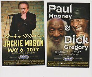 Paul Mooney Dick Gregory Jackie Mason Comedy promo postcard NYC shows