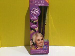 In Styler Ionic Styler Pro Ceramic Hot Brush Flat Iron Damage Box