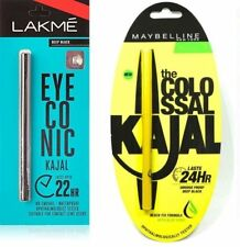 Combo Pack of 2 Lakme Eyeconic & Maybeline Colossal Kajal 0.35gm Smudge Proof