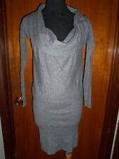 Victoria's Secret Moda International Gray Cowl Neck Drop Waist Sweater Dress XS