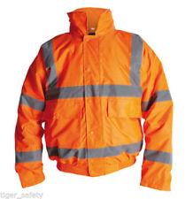 Hola Vis Viz Para Hombre Chaqueta Softshell-Chaqueta de bombardero-T-Shirt-Polo trabajo de seguridad