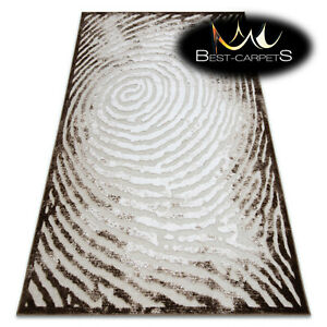 Very Soft Rug 'YAZZ' Tree stump ring beige Unique Design High Quality Acrylic