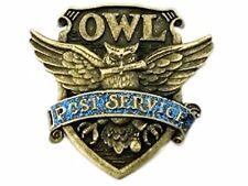 "Harry Potter Owl Post Service 1 1/2"" Tall Logo Metal Enamel Costume Pin"