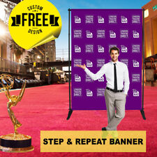 step and repeat banner backdrop + stands 7x6' FT printed banner. Free design