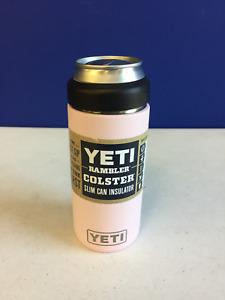Yeti Rambler 12 oz Colster Slim Can Ice Pink Vacuum Insulated Tumbler
