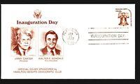 1977 Carter Mondale Inauguration Cover - Artcraft / Plains GA CDS - Z14292