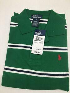Childrens Green Stripe Polo by Ralph Lauren  Polo Shirt Short Sleeve Size 7