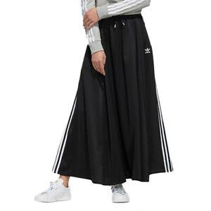adidas Originals Women's Long Satin Skirt - Black