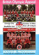 1983/84 Lincoln City V Sheffield United, amical, PARFAIT