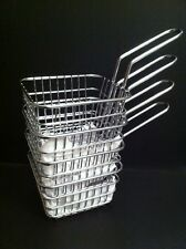 4 x Mini Hot Chips Serving Basket - Cafe Style