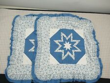 Quillow (Combo Pillow/Quilt) Folded Star Blue Amish Made in USA Set
