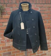 "AllSaints Spitalfields Short Phonic Pea Coat 40"" Double Breasted"