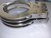 Handcuffs Real Double Lock Triple Hinged Police Hand Cuffs w/ 2 Keys