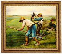 Ölbild Heuarbeit, Heuschnitt, Julien Dupre Gemälde handgemalt signiert F:50x60cm