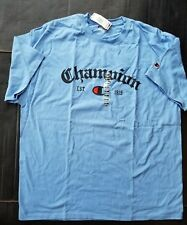 Champion Spell Out short sleeve T Shirt Size 2XL Blue NWT 2006
