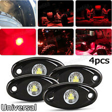 4x Red Offroad Truck Car ATV SUV Underbody Glow Light Lamp Tail Light Fit Benz