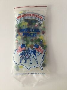 Vintage CHAMPION AGATE Bicentennial Special Pack MARBLES in Original Packaging