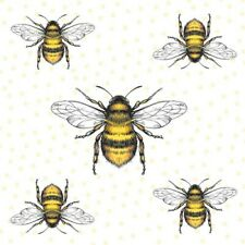 20 Paper Party Napkins Honey Bees Bee Pack Of 20 3 Ply Luxury Tissue Serviettes