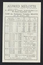 """AULNAY-sous-BOIS (93) ECREMEUSES & MACHINES AGRICOLES """"A. MELOTTE"""" TARIFS en1924"""