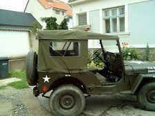 Willy's Jeep M38, Willy´s MC, CJ3A, Verdeck, Sommerverdeck aus Stoff, khaki