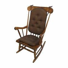 2pc Delight Fill Rocking Chair Cushion Set Twill Cotton Non-Skid Bottom Brown