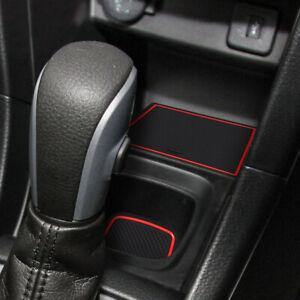 Rubber Non-slip Inner Gate Slot Mat Cup Holder Pads fits Suzuki Swift 1.2 SPORT