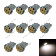 10X Warm white 8 SMD 1206 LED T10 W5W Wedge Side Light Car Bulb Lamp 12V 20010