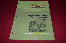 Rome Agricultural Equipment for 1974 Dealers Brochure DCPA5