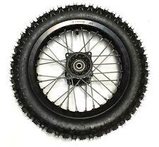 Black 3.00 x 12 Rear Wheel Rim Knobby Tire SDG SSR Lifan Baja Pit Bike 110 125