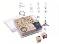 Mini wooden stamp set by Crelando