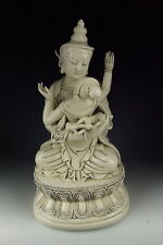 CHINA ANTIQUES DEHUA WARE PORCELAIN TIBETAN BUDDHA STATUE