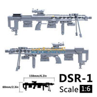 1/6  DSR-1 Siper Rifle Military Model Guns of Soldier Component Fit 12'' Figure
