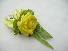 Wedding flower buttonhole yellow rose ....PIN ON