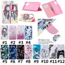 Painted Leather Flip Wallet Folio Phone Case Cover For Samsung A71 A11/M11 A10S