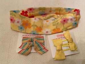 2008 Gymboree Spring Rainbow Accessories Lot Hair Headband Barrettes EUC NWT