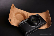 Genuine real Leather Full Camera Case Camera bag cover for Pentax MX-1 MX1 Black