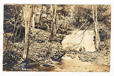 RPPC Real Photo ROBINSONS FALLS  Worcester, NY 1910