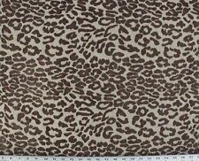 Drapery Upholstery Fabric Chenille Animal Print Abstract Leopard - Coffee/Beige