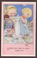 Children MABEL LUCIE ATTWELL Sun Dial PPC 1940s?