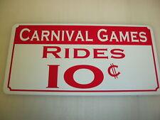 CARNIVAL GAMES Sign 4 Vintage Style Game Room Boardwalk Amusement Park