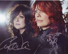 HEART ANN & NANCY WILSON Signed BEAUTIFUL Photo w/ Hologram COA