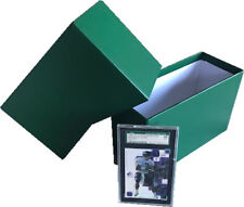 NEW COLOR-GREEN Graded Card Storage Boxes V-Notch, MJ Roop Archivers