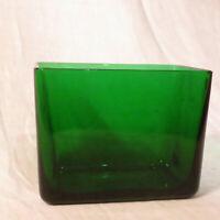 Napco Rectangular Green Glass Vase Or Planter