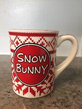 Our name is mud mug LAURIE VEASEY Snow Bunny Coffee Tea Mug Cup