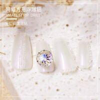 Crystal lotus Stones Nail Art Decorations Manicure Diamond 3D Nail Rhinestones