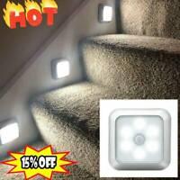LED Night Light Motion Sensor Wall Closet Cabinet Stair Wireless Lights Lamps