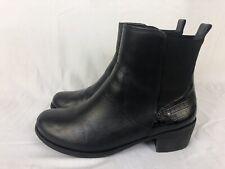 Ugg Australia Cordovan Keller Croco Leather Ankle Chelsea Boot Black 1013707 BX
